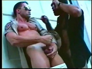 Police officers sex outdoor