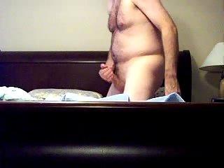 Fat Bear Amusing Himself On A Bed
