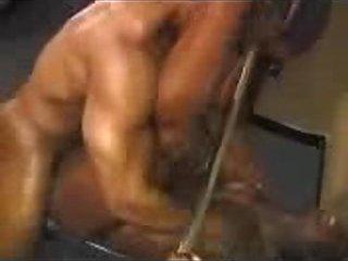 Ebony Body Builders Romping Hard In The Gym