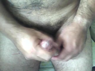 Cumming in rubber pussy