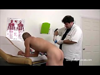Sexy Guy Gets Examined By Fat Doctor