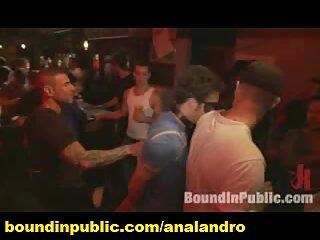 Public Gangbanged Gay Stud