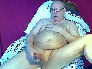 Horny fat chap amateur solo