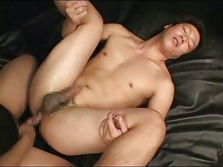 Asian gay fingered & fucked