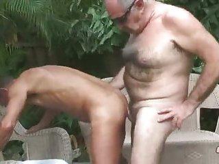 Unbridled mature sucks his friend