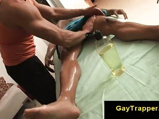 Muscle gay massage guy loves hairy guys on his massage table