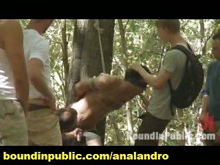 Gay BDSM and Gangbang on a Picnic