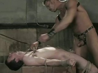 Sexy hunk abused in violent bdsm sex