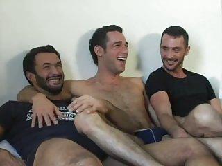 Trio feet licking & sucking & fucking