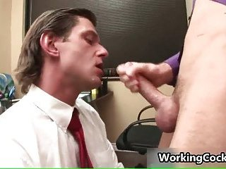 Matthew Singer fucking and sucking in office