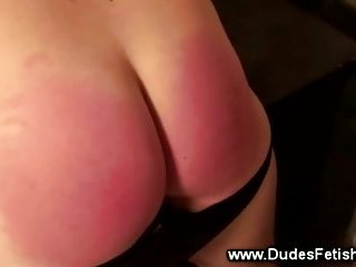 Hot guy gets red ass spanking punishment