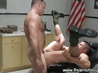 Army pornstars get butt pounded and love it