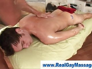 Hot amateur straighty gets massage