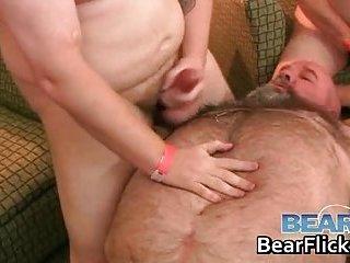 Bear bukkake hard gay porn