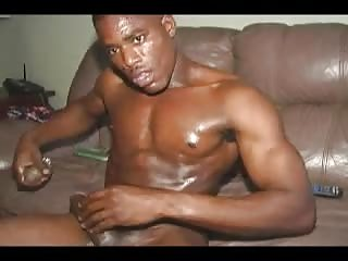 Ebony Guy Solo Masturbation
