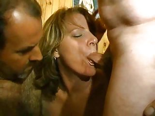 Mature Slut Fucking With Two Bi Guys