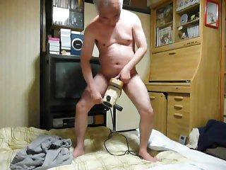 Japanese old man masturbation ejaculation in my room semen