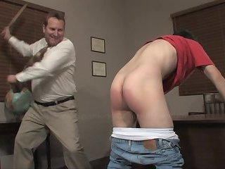 School boy discipline spanking