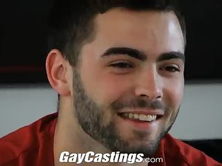 Gay hairy ass fucked at the casting