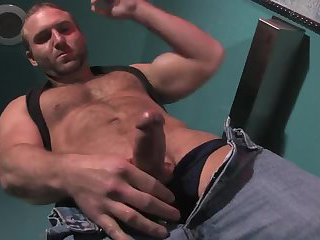 Hairy Guy Jerking Off