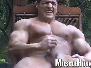 Muscle Guy Solo Outdoor Fun