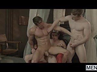 Johnny Rapid, Gabriel Cross, and Darius Ferdynand enjoying a hot threesome