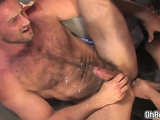 Bears rides a young studs dick hard anal plowing