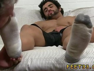 Alpha-Male gets dirty feet licked