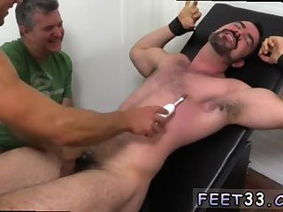 Foot fucking a male corpse