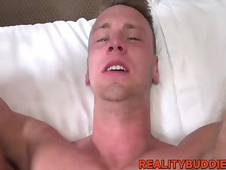 Straight dude Brandon Evans takes a cock in his asshole