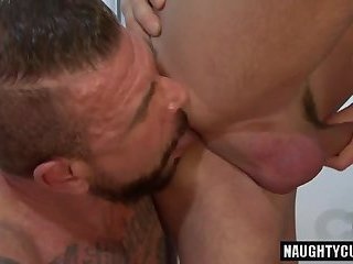 Huge dick daddy anal sex with cumshot
