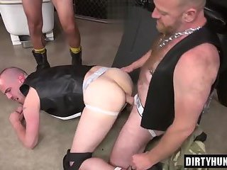 Muscle son piss with cum eating