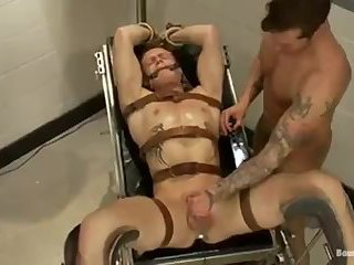 Fake doctor drugs, ties up, BDSM then fucks straight guy