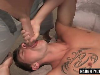 Big dick jock ass to mouth and creampie