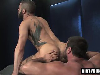 Muscle gay anal sex and cum eating