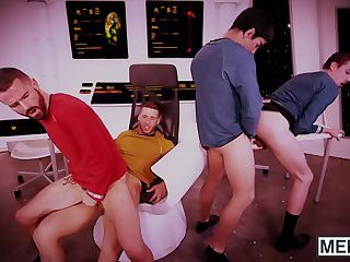 One massive gay orgy is happening in starship enterprise