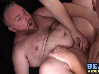 Horny fat and strong bears fucking doggystyle and bareback
