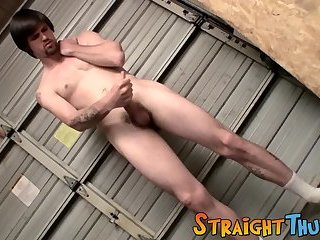 Sexy thug Nolan wanks his pretty cock with both of his hands