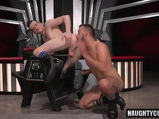 Hot gay fetish and cumshot