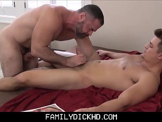 Hunk Step Son Caught By Dad Masturbating To Porn