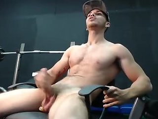 Cam boy wags his big uncut meat around