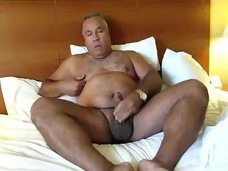 Big papa giving those big balls a nice draining