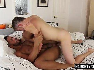 Tattoo son oral sex with cumshot