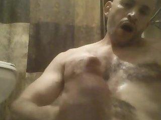 Jerking my big Puerto Rican cock