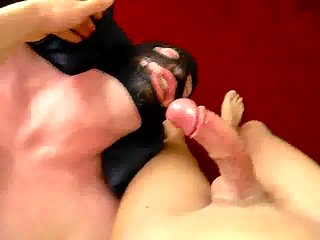 Guy In Mask Deepthroating POVs Dong
