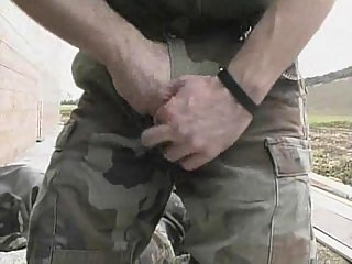 Horny Soldiers Enjoy Oral Sex Outdoor