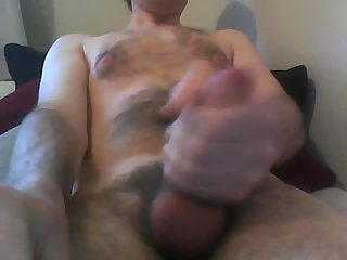 Solo gay jerking off on webcam
