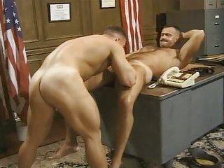 Hot gay fucking in office
