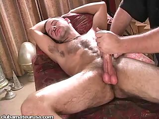 Skilful handjob is the best for this chap