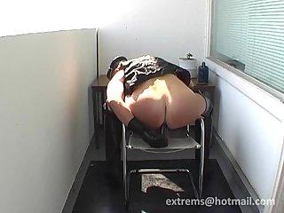 Huge balls & dildo using & pissing